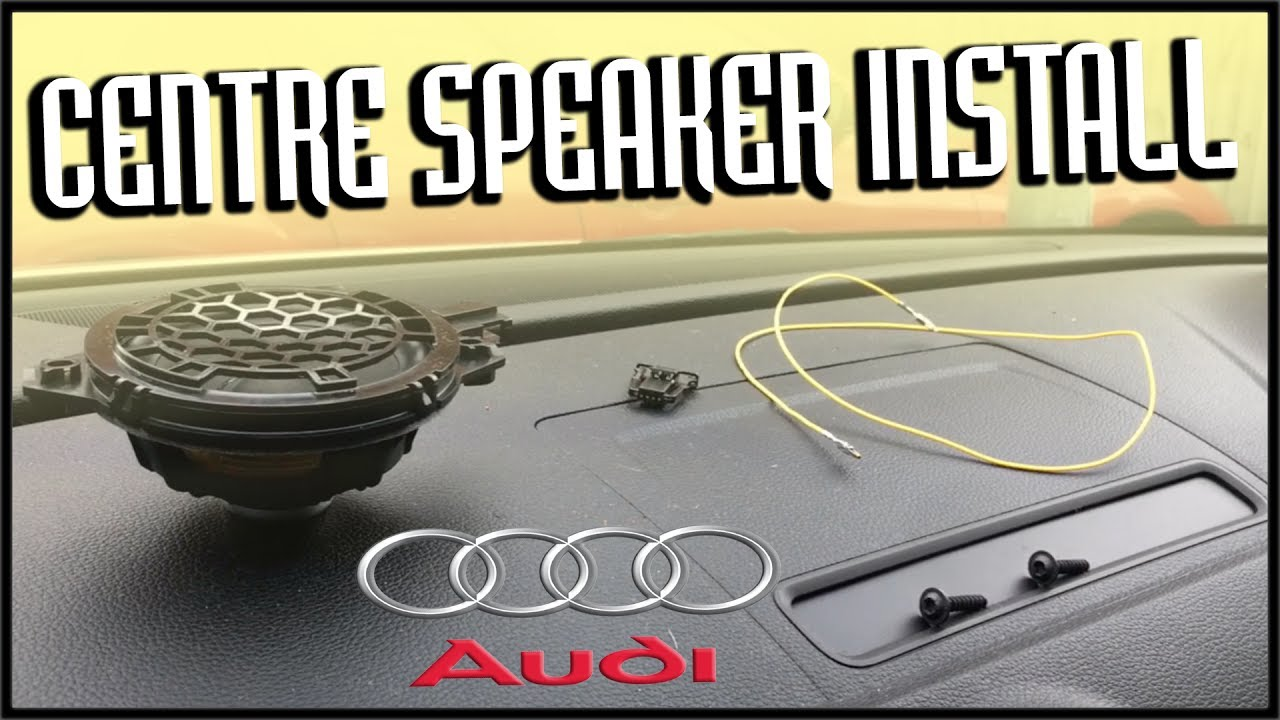 audi a3 8v 2013 install front centre speaker youtube. Black Bedroom Furniture Sets. Home Design Ideas