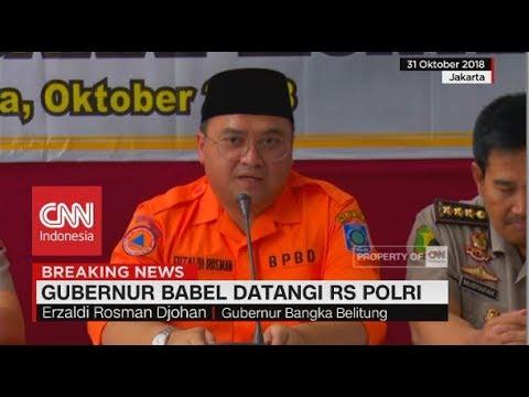 Beri Semangat Keluarga Korban, Gubernur Bangka Belitung Datangi RS Polri