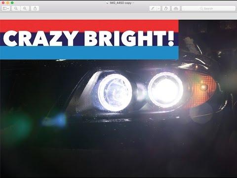 LED High Beam Bulb Upgrade // BMW E90