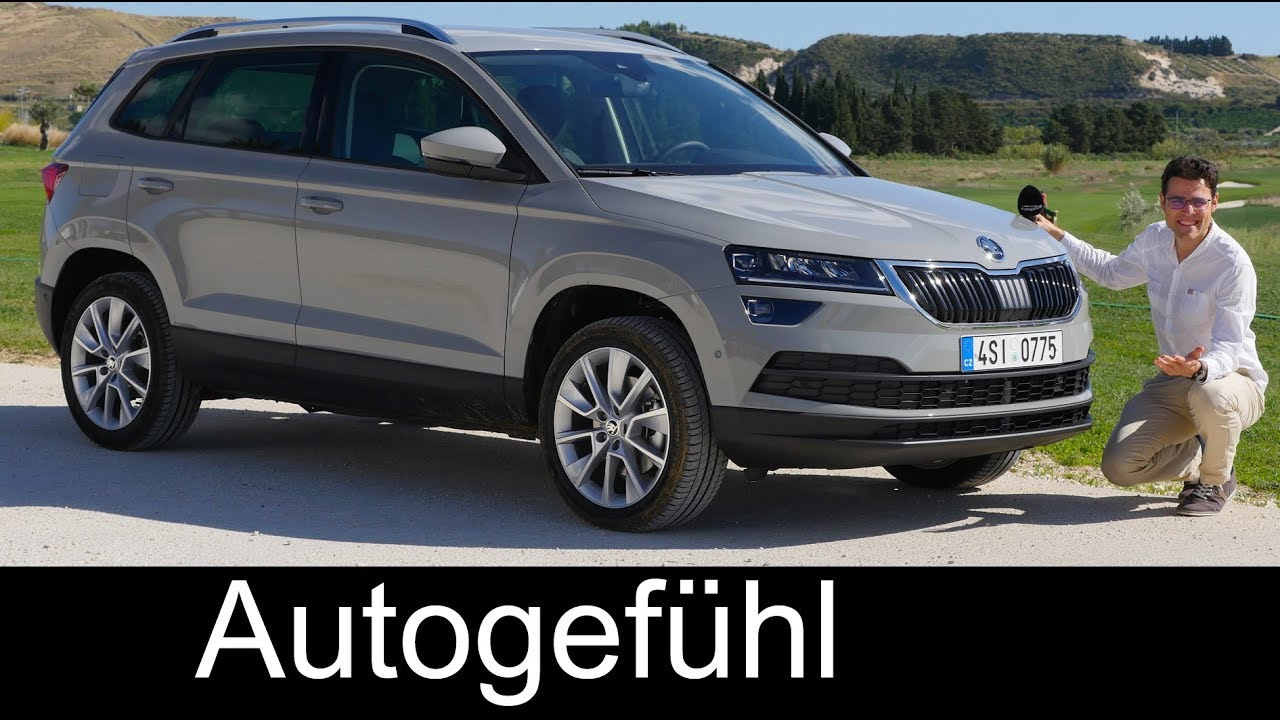 skoda karoq full review test 1 5 tsi style all new suv neu autogef hl youtube. Black Bedroom Furniture Sets. Home Design Ideas