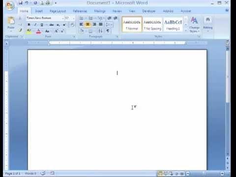 MS Word 2007 Tutorial In Hindi Part 2 Cut Copy Paste Format