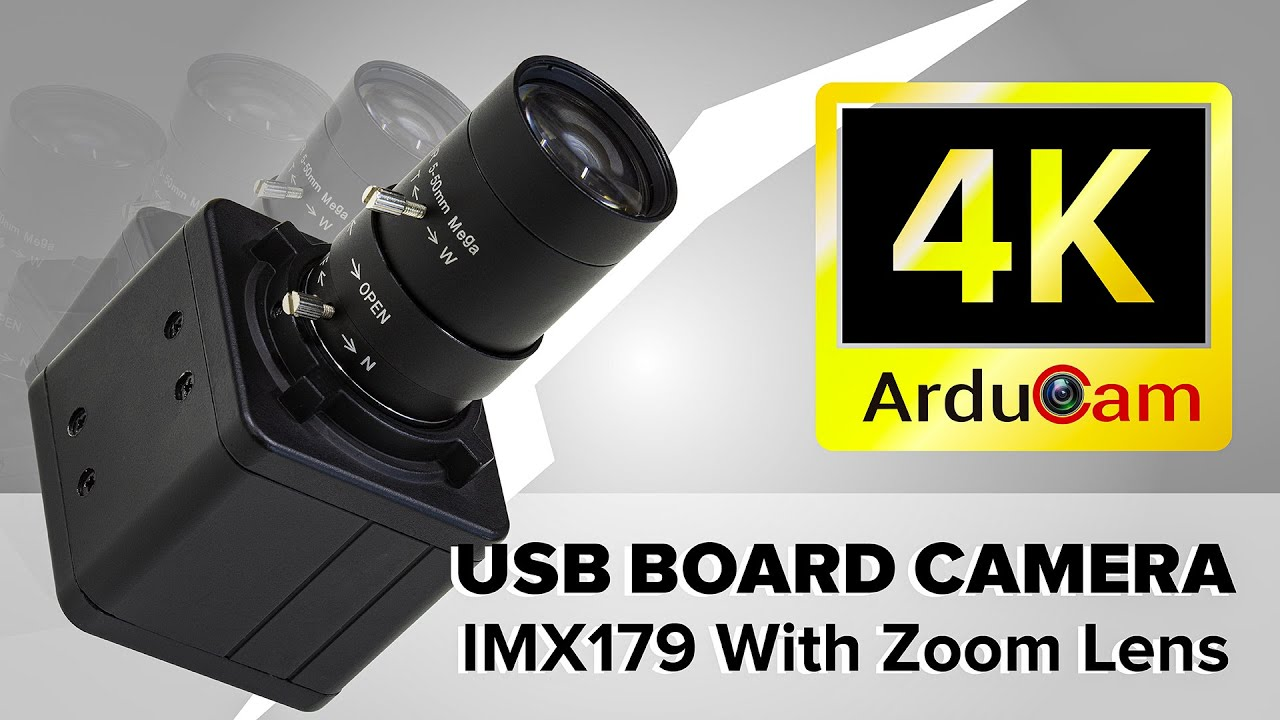 4K USB Camera Module with Varifocal Zoom Lens: Arducam IMX179 UVC (USB2.0) Board Camera Demo