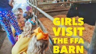 Busbys visit a local FFA Barn