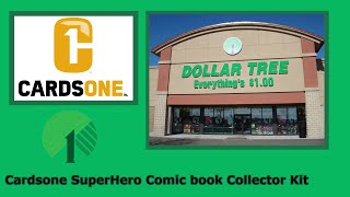 Dollar Tree Cardsone SuperHero Comic Book Collector Kit