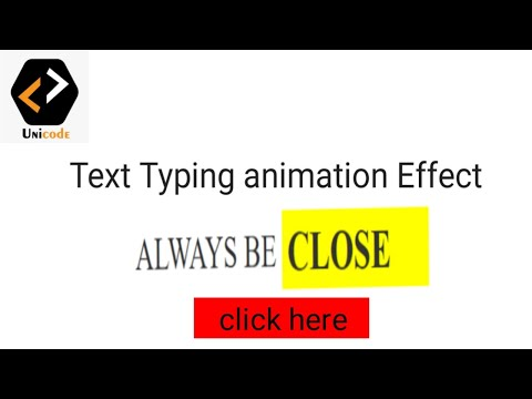 Text Typing Animation Effect In Html Css || Text Animation Effect