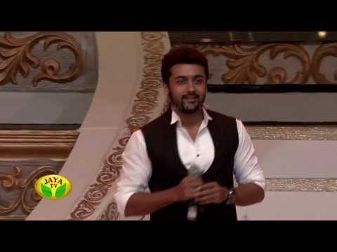 Actor Surya & Director Lingusamy In 100 Year Indian Cinema Celebration by Jaya Tv Travel Video