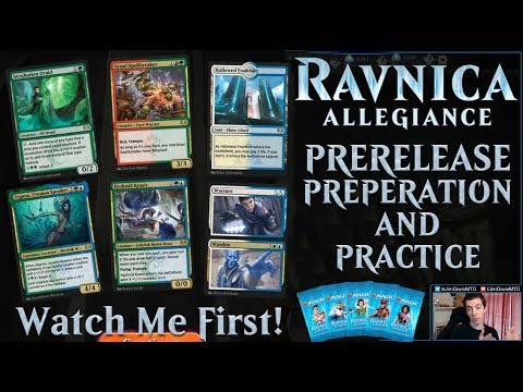 Ravnica Allegiance - Prerelease Practice and Preperation - Step One: Open  Good Simic Rares!
