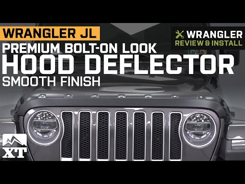 Jeep Wrangler JL Premium Bolt-On Look Hood Deflector - Smooth Review & Install