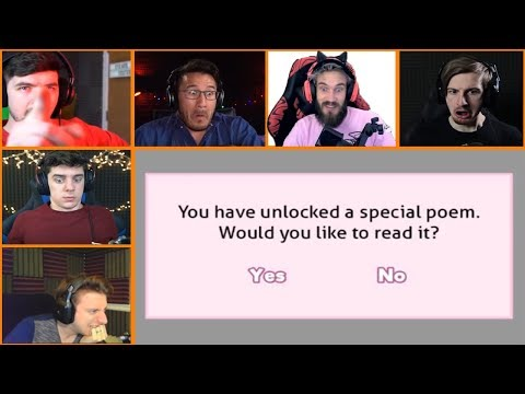 Let's Players Reaction To Reading The Special Poems | Doki Doki Literature Club