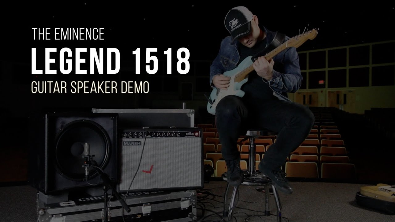 eminence legend 1518 guitar speaker demo youtube. Black Bedroom Furniture Sets. Home Design Ideas