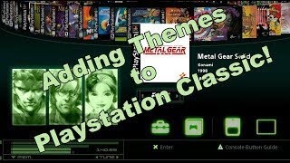 How to add themes to Playstation Classic! Metal Gear Solid theme for BleemSync