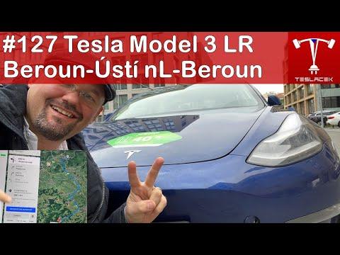 #127 Tesla Model 3 Beroun - Ústí nad Labem - Beroun | Teslacek