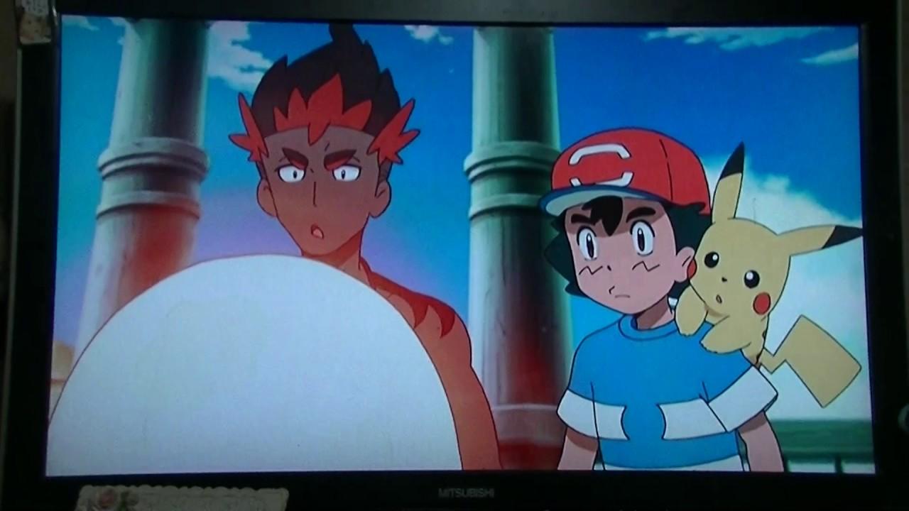 ポケモンサン&ムーンアニメ第13話アローラロコンが卵がかえったシーン