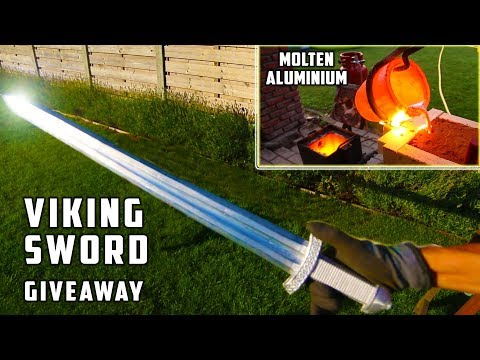 Giant Aluminum Casting during Thunderstorm - Viking Sword !