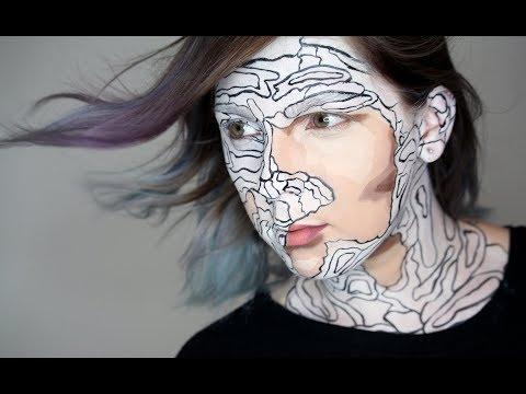 Lidské Omalovánky Halloween Makeup Tutorial