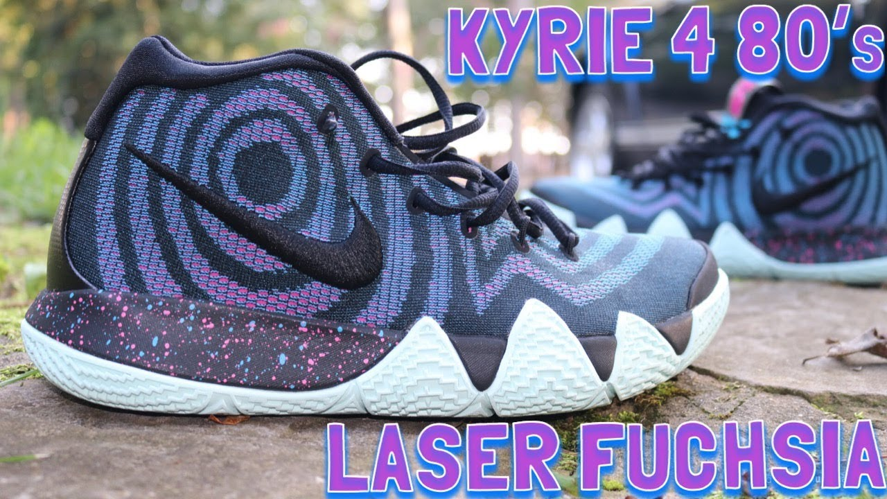 0f428d01c52 Nike Kyrie 4 80s Laser Fuchsia Review   On Feet!! - YouTube