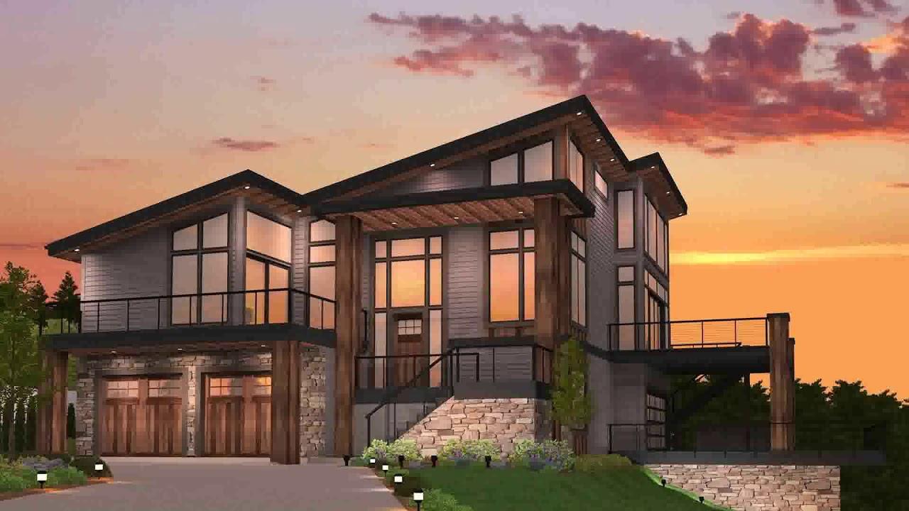 Modern house plans with walkout basement