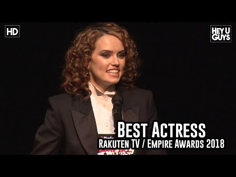 Daisy Ridley Wins Best Actress & her reaction to The Force Awakens - Empire Awards 2018