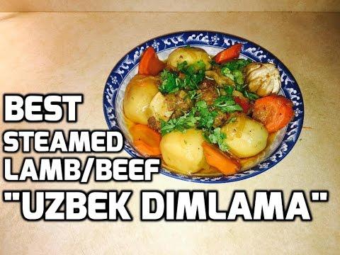 How To Make Uzbek Dimlama (Dumlama, Dumlyama) - Steamed lamb/beef with vegetables in kazan