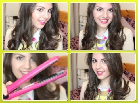 How To Curl Your Hair With A Straightener Victorias