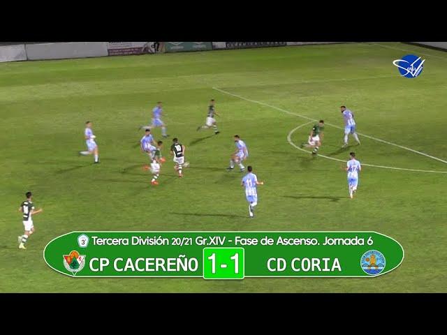 CP Cacereño - CD Coria. Fase de Ascenso a 2ª RFEF (3ª División Gr.XIV 20/21)