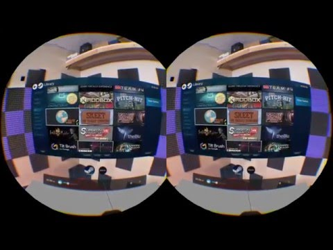HTC Vive - Stereoscopic game-play test SBS (Audioshield, The Lab)