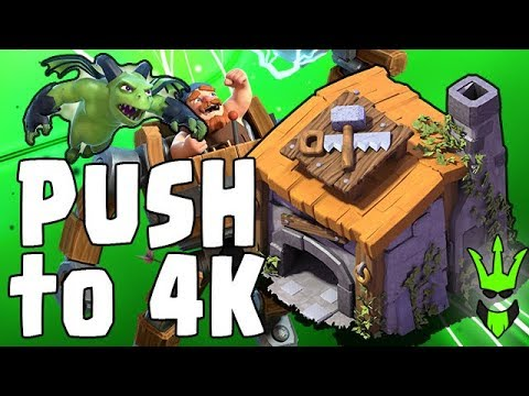 BH6 PUSH TO 4K! - Builder Hall Live Pushing - Beta Minions OP! - Clash of Clans