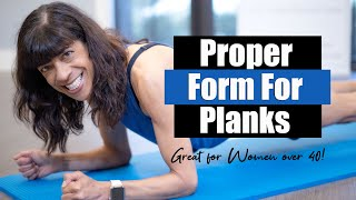 Proper Form When Doing a Plank! Women over 40! Fitness With Sharon!