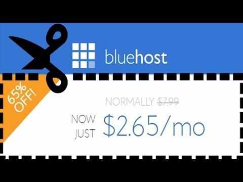 Bluehost Coupon Code 2017: ⏩ $2.65/mo & Free Domain SAVE $188+