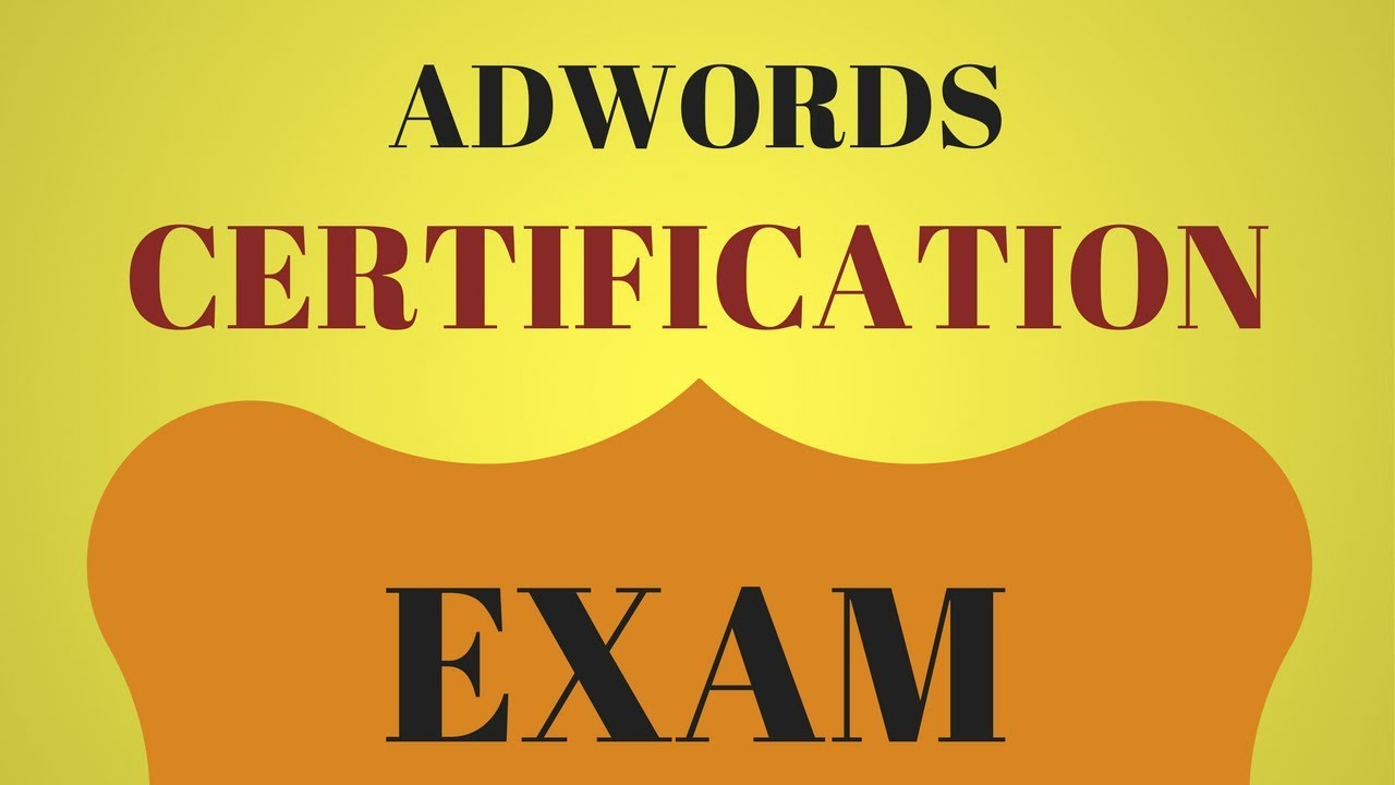 Tips for passing the adwords certification exams youtube tips for passing the adwords certification exams xflitez Gallery