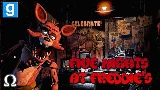 FIVE NIGHTS AT FREDDY'S | FOXY SCARED US SHITLESS! | GMOD HORROR MAP (1)