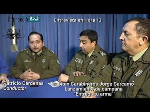 """Entrevista en Hora 13 - Lanzamiento de Campaña """"Entrega tu arma"""""""