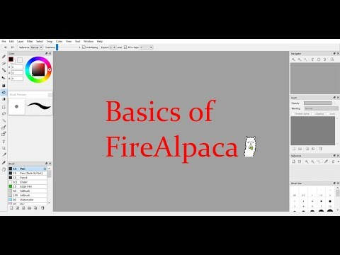 Basics Of FireAlpaca//Also How To Animate