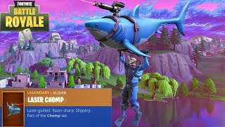 FORTNITE NEW LEGENDARY LASER CHOMP GLIDER + NEW SCUBA SKINS GAMEPLAY! (FORTNITE NEW ITEMS)