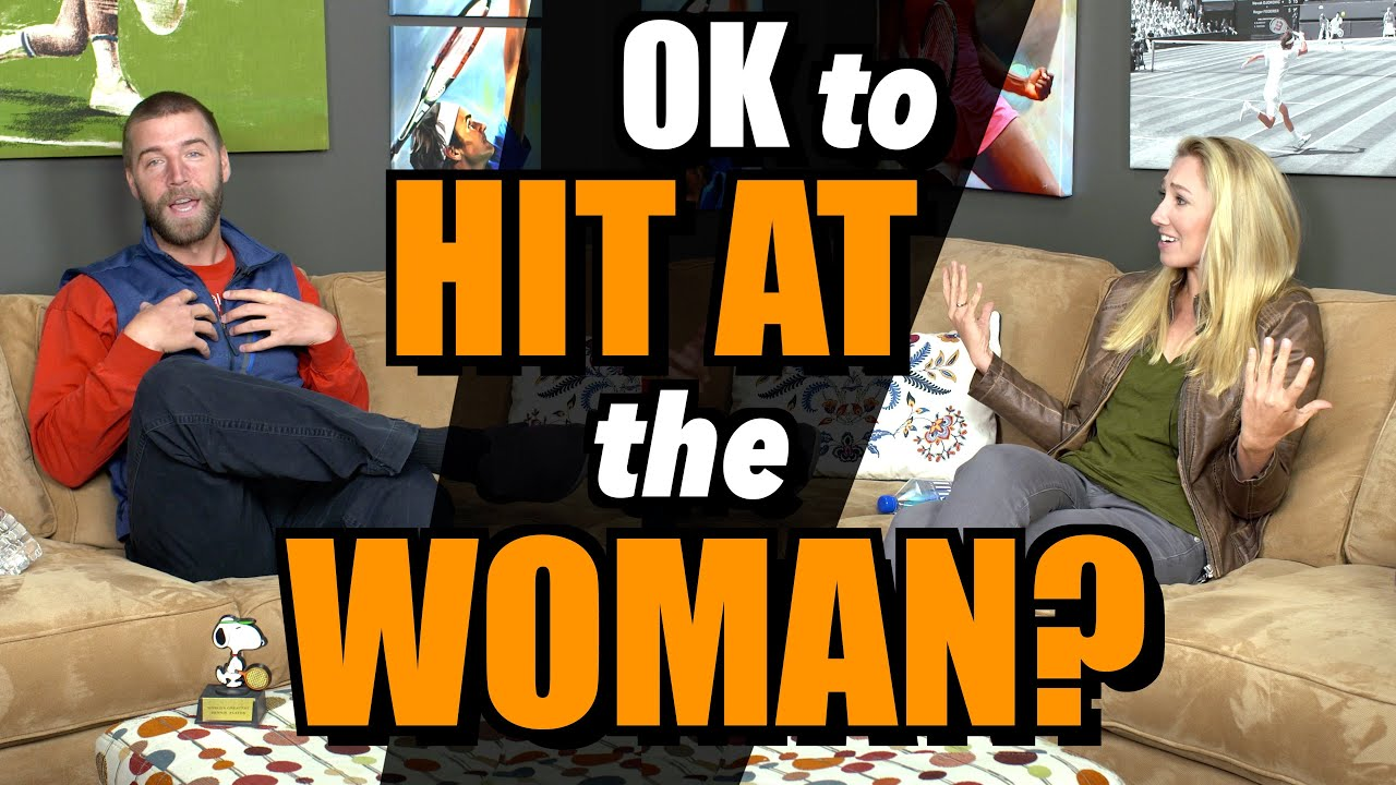 OK to Hit At the Woman in Mixed Doubles? - YouTube