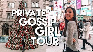 PRIVATE GOSSIP GIRL TOUR, A GIVEAWAY(!) AND H&M & SEPHORA SHOPPING | Vlogmas Day 13