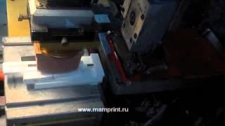 Тампопечать - нанесение логотипа на станке(Видео с примером нанесения логотипа методом тампопечати. Компания: ООО