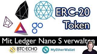 ERC-20 Token auf dem LEDGER NANOS S verwalten | MyEtherWallet-Interface