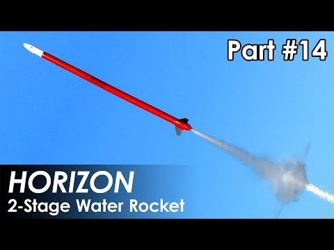 2 Stage Water Rocket - Part 14 - First Flight