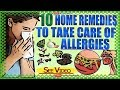 10 Home Remedies to Take Care of Allergies | Natural Home Remedies for Allergies