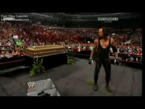 WWE Raw 03/30/09 Shawn Michaels Funeral For The Undertaker