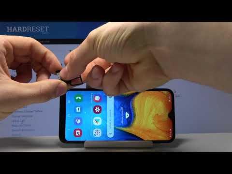 Как вставить сим карту в Samsung Galaxy A20e. Сим карта и карта памяти.