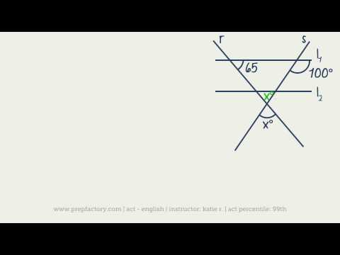 ACT Math -  Plane Geometry - Angles