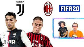 JUVENTUS vs MILAN GIOCO CON CR7 IN COPPA ITALIA FIFA 20 Gameplay