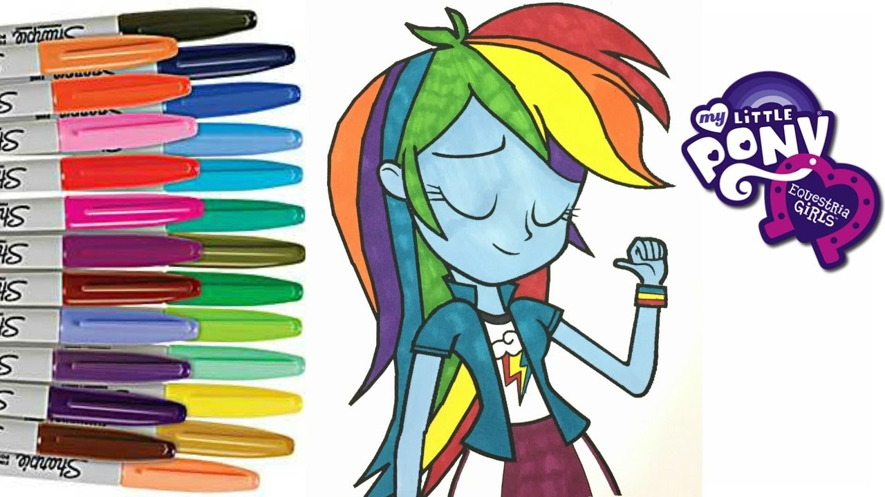 my little pony rainbow dash equestria mlp coloring book pages