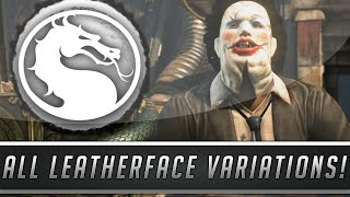 Mortal Kombat X: LeatherFace Variations Gameplay - Killer, Butcher & Pretty Lady! (Mortal Kombat XL)