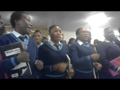 Andimba Toivo ya Toivo SSS SCM  2016 on the stage.(Onguta ELCIN church Ondangwa)