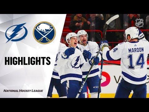 NHL Highlights   Lightning @ Sabres 11/08/19 1