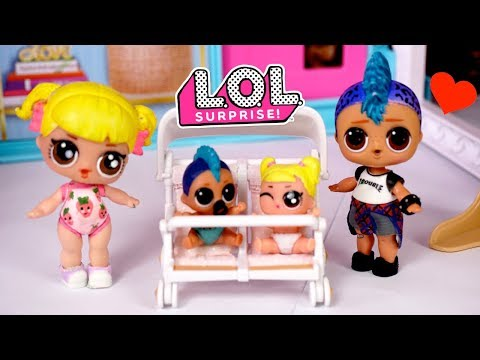 Barbie Doll Babysitting LOL Baby Goldie & Punk Boi Family