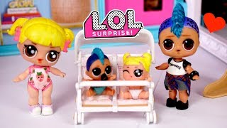 Barbie Doll Babysitting LOL Baby Goldie & Punk Boi Family